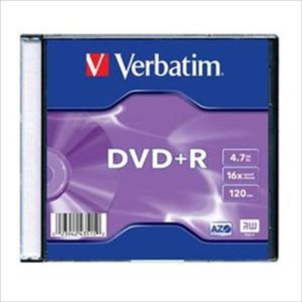 Verbatim DVD+R 4.7GB 16X AZO MATT SILVER slim box - 43515 matricas