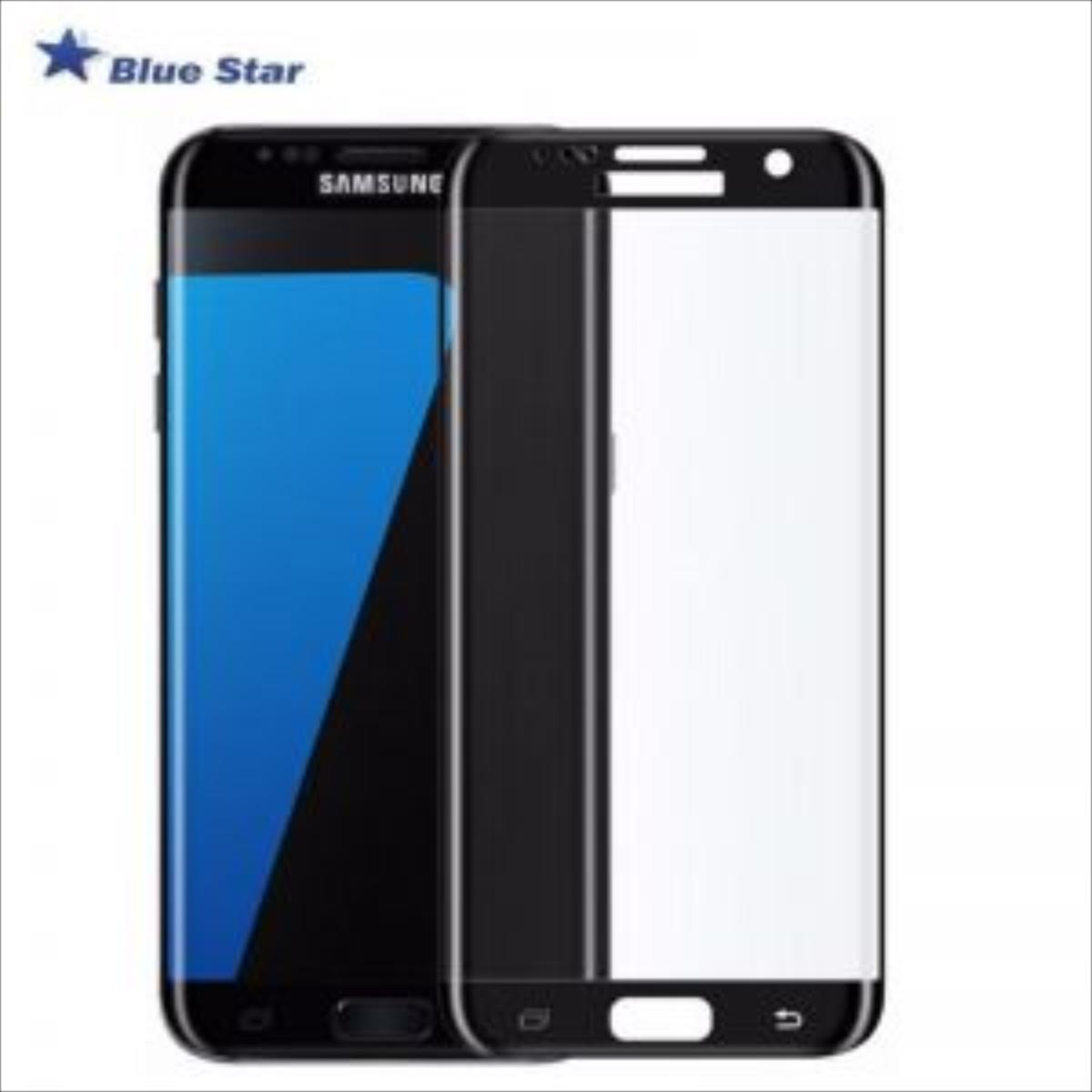 BS Tempered Glass 9H Extra Shock Aizsargplēve-stikls Samsung G935F Galaxy S7 Edge Full Face Melns (EU Blister) aksesuārs mobilajiem telefoniem
