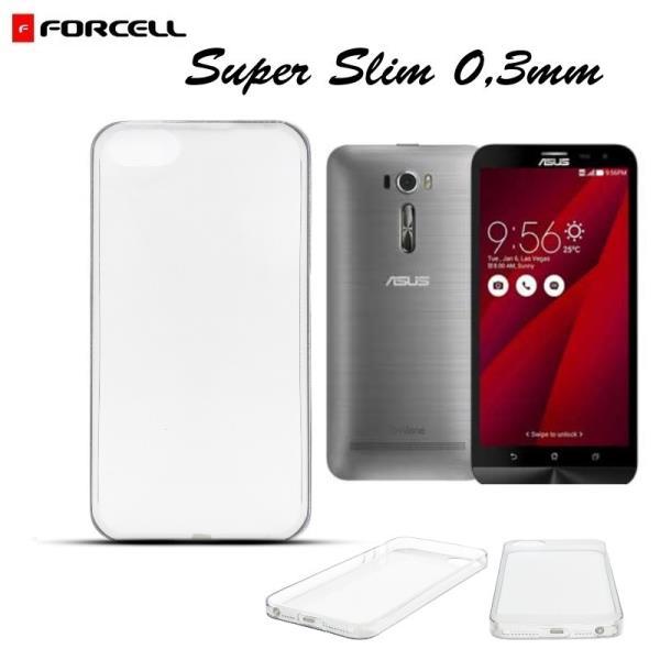 Forcell Ultra Slim 0.3mm Back Case Asus Zenfone 2 Laser ZE601KL super plāns apvalks Caurspīdīgs aksesuārs mobilajiem telefoniem