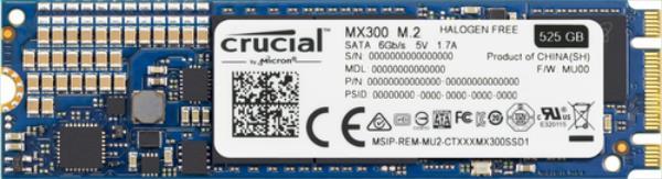 Crucial SSD MX300 M.2 Type 2280 525GB 530/510Mb/s SSD disks