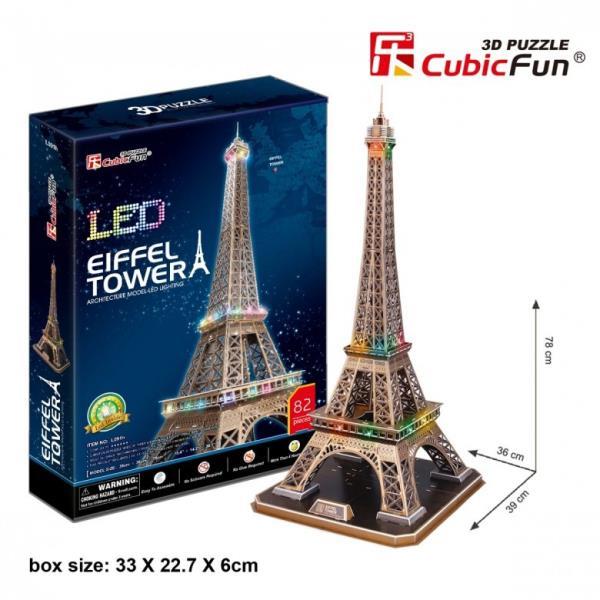 Dante LED 3D Puzzle Eifeļa tornis - (306-20507) puzle, puzzle