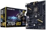 Gigabyte GA-Z170X-UD3, Z170, DualDDR4-2133, SATA3, SATAe, HDMI, DVI, D-Sub, ATX pamatplate, mātesplate