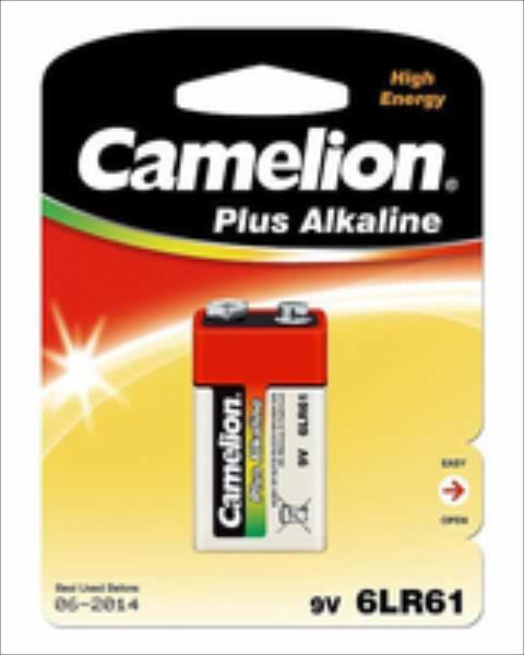 Camelion 9V, Plus Alkaline 6LR61, 1 pc(s) Baterija