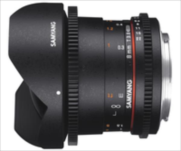 Samyang F1322404101 8MM T3,8 VDSLR II PENTAX CSII foto objektīvs
