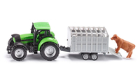 Siku series 16 tractor with trailer for animals galda spēle