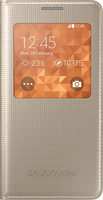 Samsung GALAXY ALPHA PUNCH S-View Gold maciņš, apvalks mobilajam telefonam