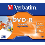 Verbatim DVD-R 4.7GB 16X AZO WIDE PRINTABLE jewel box - 4352 matricas