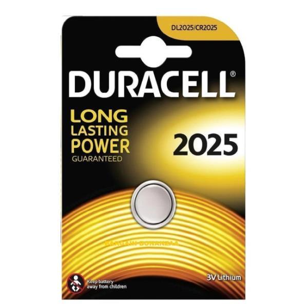 Duracell CR2025 Long Lasting Power 3V Lithium Litija Baterija (DL2025) (1gab. Blisters) Baterija