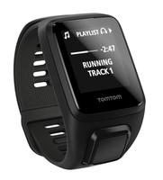 TomTom Spark 3 Cardio + Music + sluchawki Black L sporta pulkstenis