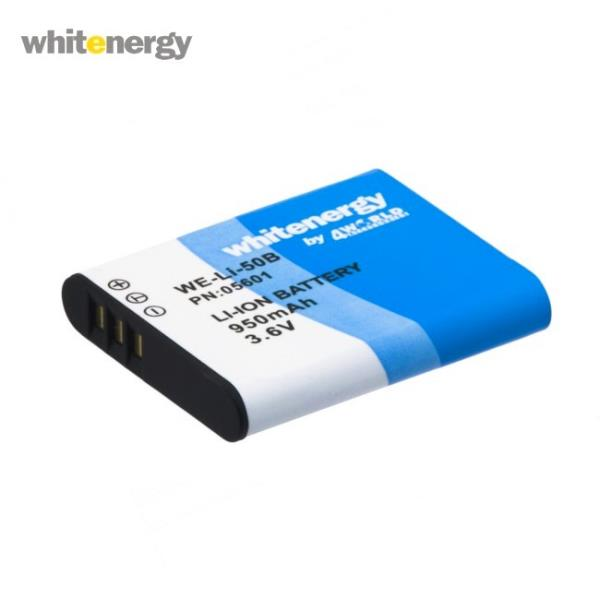 Whitenergy 05601 Augstas kvalitātes Analogs Li-50B Olympus Foto Kameras Akumulātors 950mAh 3.6V Baterija