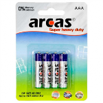 Arcas Super Heavy Duty AAA (LR03), 4- pack Baterija