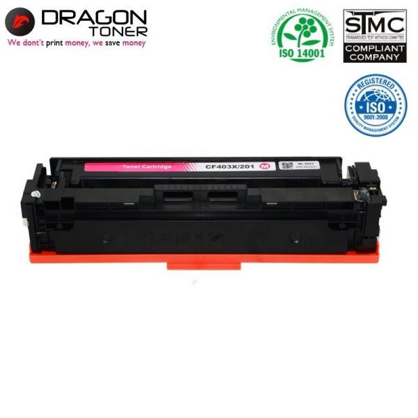 Dragon HP 201X CF403X Sarkana Lāzerdrukas kasete priekš M252dw 2.3K Lapas HQ Premium Analogs aksesuārs mobilajiem telefoniem