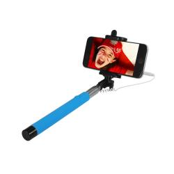 ART SELFIE STICK wired KS10A ART-OEM blue Selfy Stick