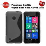 Telone Back Case S-Case gumijots telefona apvalks Nokia 530 Lumia Caurspīdīgs aksesuārs mobilajiem telefoniem