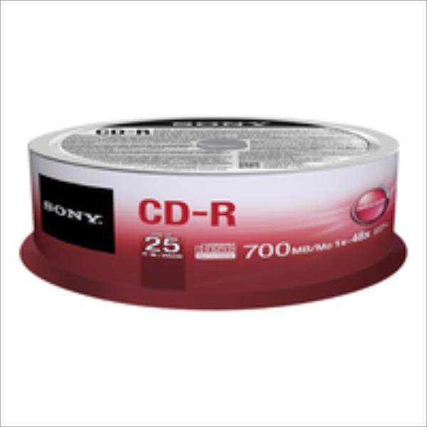 Sony CD-R 700 MB (80 min) | 48x [cake box 25 pcs] matricas