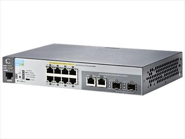 Hewlett Packard Enterprise ProCurve 2530-8G-PoE+ Switch komutators