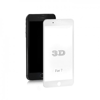Qoltec Premium Tempered Glass Screen Protector for iPhone 7   White   3D aksesuārs mobilajiem telefoniem
