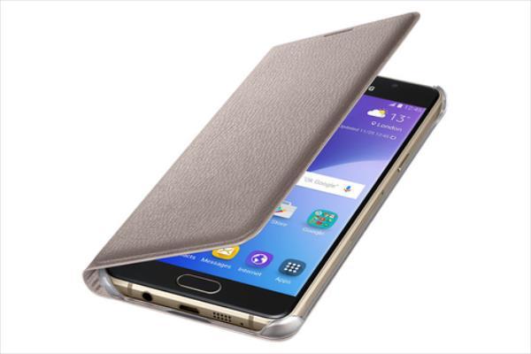 Samsung Flip Wallet Gold for Galaxy A5 2016 EF-WA510 maciņš, apvalks mobilajam telefonam