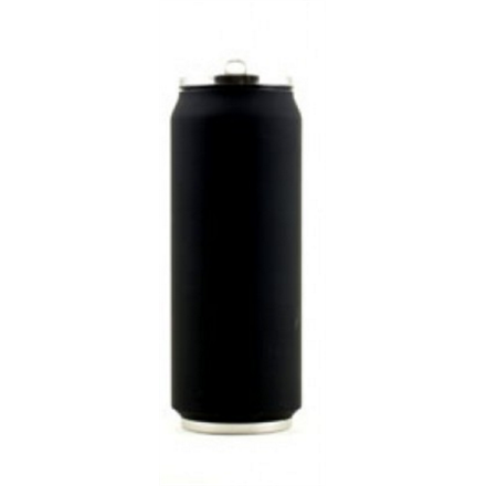 Yoko Design Isotherm Tin Can 500 ml, Soft touch black termoss