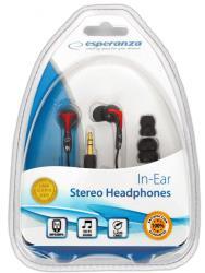 ESPERANZA Stereo Earphone EH123 RED-BLACK austiņas