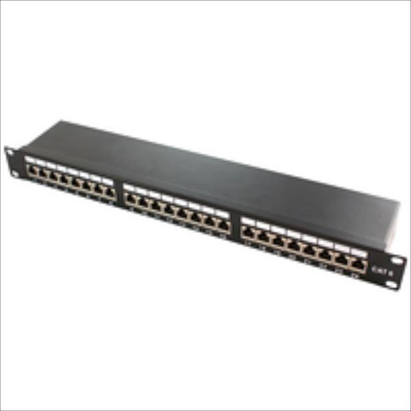 LOGILINK-  Patch Panel 19''-mounting Cat.6A STP 24 ports, black datortīklu aksesuārs