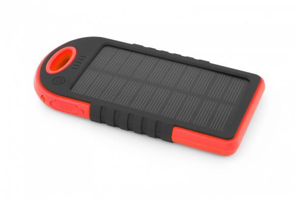 ESPERANZA SOLAR POWER    BANK SUN 5200mAh RED Powerbank, mobilā uzlādes iekārta
