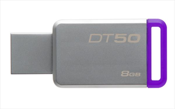 Kingston 8GB USB 3.0 DataTraveler 50 (Metal/Purple) USB Flash atmiņa