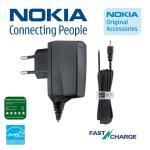 Nokia AC-8E Oriģināls 2,5mm tīkla lādētājs ar ātro uzlādi aksesuārs mobilajiem telefoniem