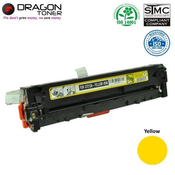 Dragon HP 131A CF212A Yellow / Canon CRG-731Y Dzeltena Lāzedrukas kasete M251nw 1.6K Pages HQ Premium Analogs aksesuārs mobilajiem telefoniem