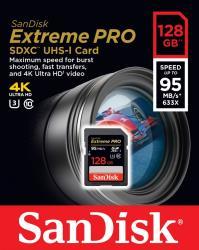 Extreme Pro SDXC 128GB   95MB/s UHS-I Class 10 atmiņas karte