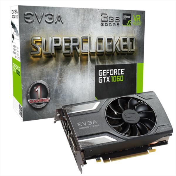 EVGA GeForce GTX 1060 SC GAMING, 3GB GDDR5 (192 Bit), HDMI, DVI, 3xDP video karte