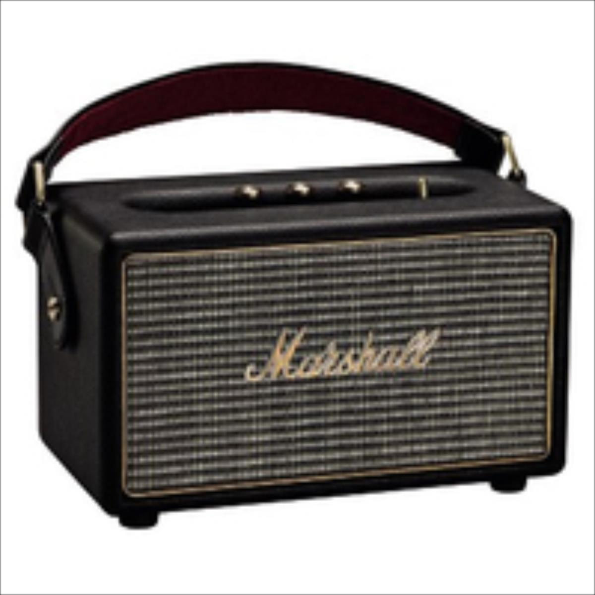 Marshall Kilburn Black bluetooth pārnēsājamais skaļrunis