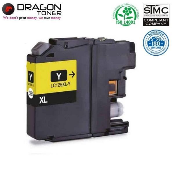 Dragon Brother LC125XLY Dzeltens Tintes Kārtridžs 17ml priekš DCP-J4110DW MFC-J4610DW uc.HQ Premium Analogs