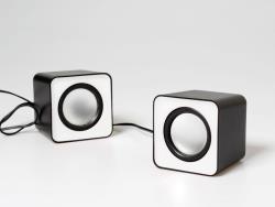 FADO - 6W stero speakers USB powered - white datoru skaļruņi