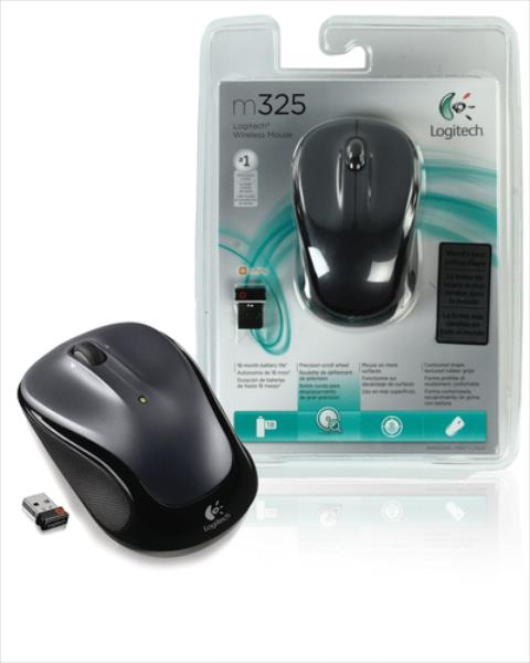Logitech Wireless M325 Black/Grey Datora pele