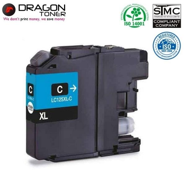 Dragon Brother LC125XLС Zils Tintes Kārtridžs 17ml priekš DCP-J4110DW MFC-J4610DW uc.HQ Premium Analogs