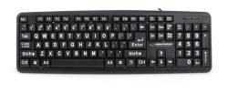 ESPERANZA EK129 Keyboard Standard  USB | 104 BIG LETTERS KEYS klaviatūra