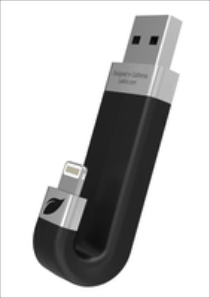 Leef iBRIDGE 16GB 16 GB, USB 2.0/Lightning, Black USB Flash atmiņa