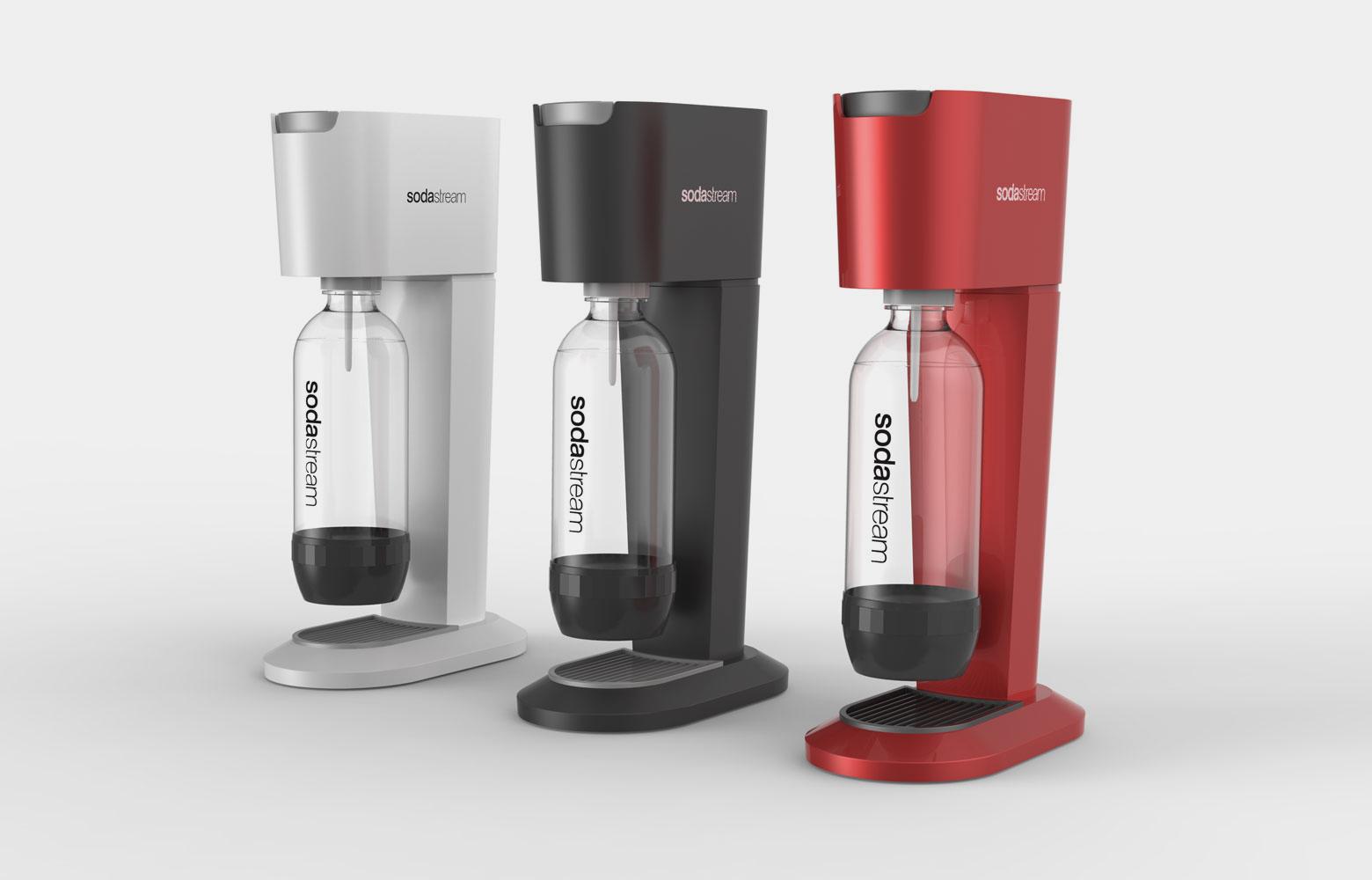 SodaStream GENESIS White/Nickel   (Incl. 60 CO2 + 1 btl) SodaStream GENESIS Black/Nickel   (Incl. 60 CO2 + 1 btl) Virtuves piederumi