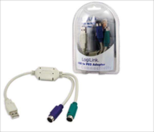 LOGILINK - Adapter USB for 2x PS/2