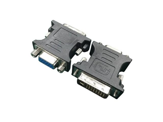 Gembird Adapter DVI-A 24-pin male to VGA 15-pin HD (3 rows) female black