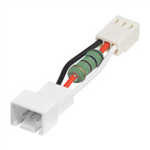 Conversion cable, 3-pin female to 3-pin male with resistor to convert 12V to 5V dzesētājs, ventilators