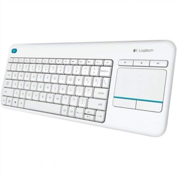 Logitech Wireless Touch Keyboard K400 Plus, 2.4GHZ, White, RUS klaviatūra