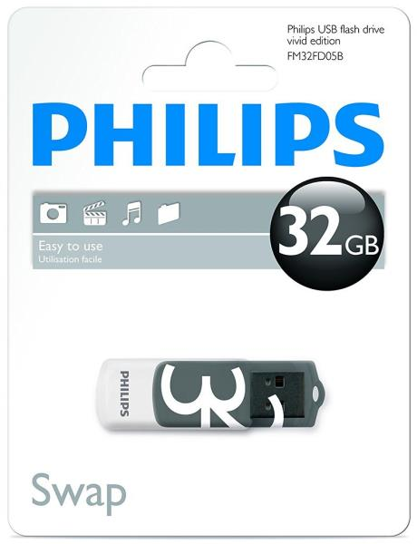 Philips USB 2.0 Flash Drive Vivid Edition Gray 32GB USB Flash atmiņa