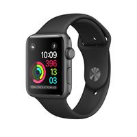 Apple Watch Series 1, 38mm Space Grey Aluminium Case with Black Sport Band Viedais pulkstenis, smartwatch