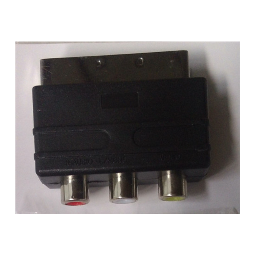 Adapter SCART to 3x RCA ESTAR adapteris