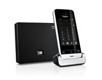 Gigaset SL910A Schnurlostelefon mit Touchscreen und AB metall pianoblack telefons