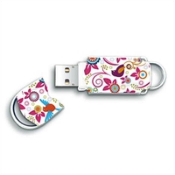 Integral Xpression Pattern 8GB, Birds, Practical and stylish USB Flash atmiņa