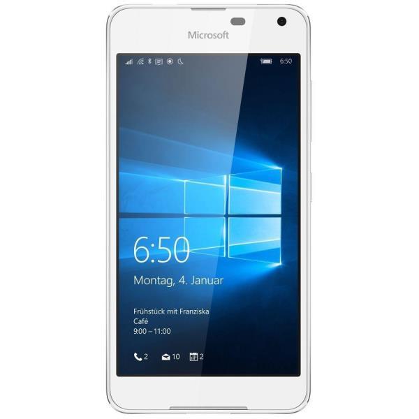 Microsoft Lumia 650 White Light Silver Dual Sim Mobilais Telefons