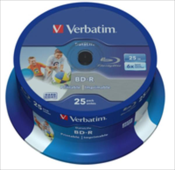 Verbatim 43811 BD-R 25GB 25x (6x) wide printable matricas